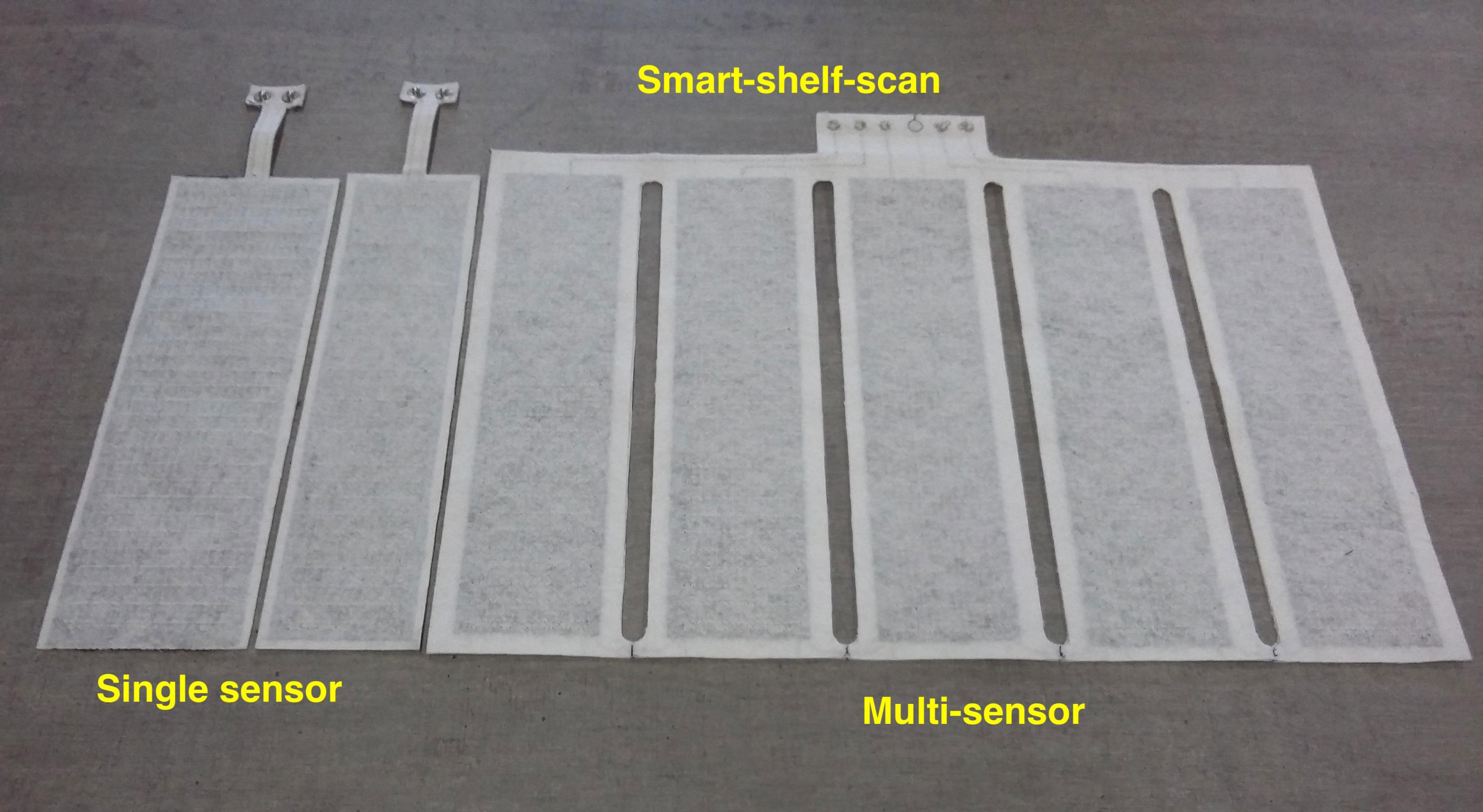 Textile sensor for object scanning and inventory management record